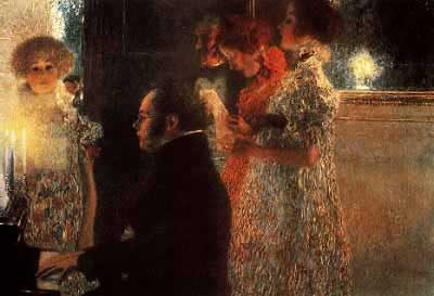 Schubert at the Piano Gustav Klimt