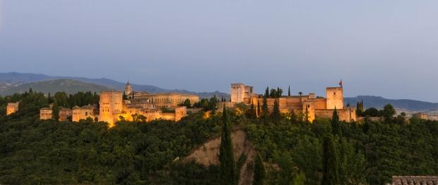 La Alhambra junto al Carmen donde habitó Manuel de Falla