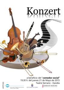 Cartel concierto benéfico mayo 15