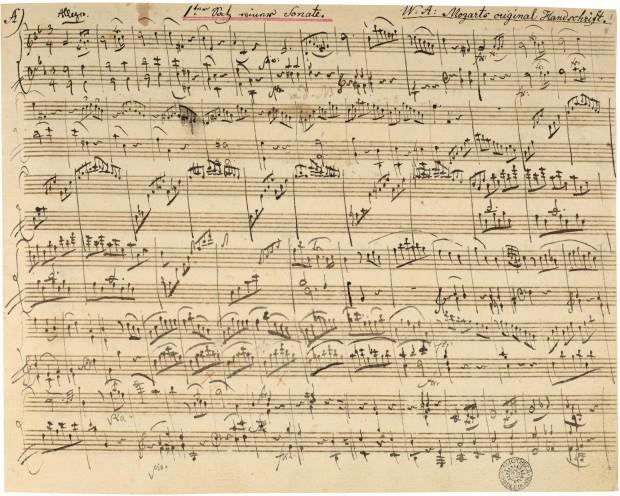 Autografo Sonatensatz gmoll K312