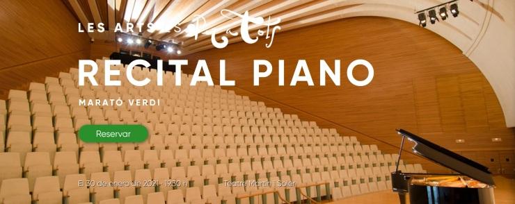Recital piano Marató Verdi 2021